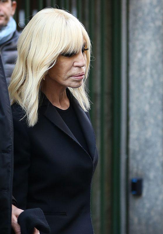 Donatella Versace - Leaves Franca Sozzani