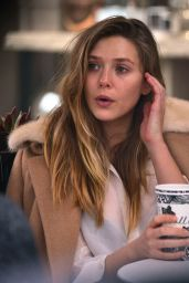 Elizabeth Olsen at Alfreds Coffee in West Hollywood 12/15/ 2016