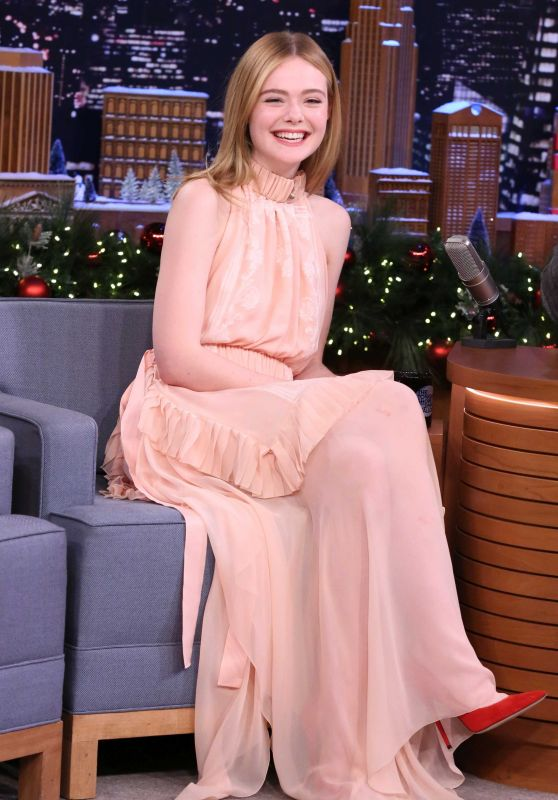 Elle Fanning Appeared on Tonight Show Starring Jimmy Fallon in New York 12/14/ 2016