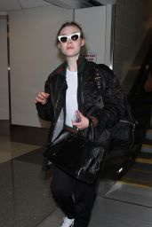 Elle Fanning at LAX Airport in Los Angeles 12/8/ 2016