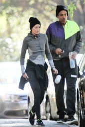 Ellen Pompeo - Works Out in Los Feliz With Her Husband Chris Ivery 12/18/ 2016