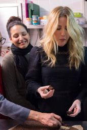 Ellie Goulding - Visits Homeless Project for Women in London 12/16/ 2016