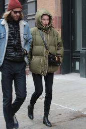 Elsa Hosk With Her Boyfriend Tom Daly in New York 12/28/ 2016