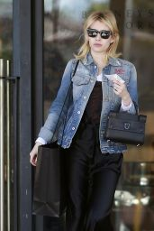 Emma Roberts Casual Style - Leaving Barneys New York in Beverly Hills 12/20/ 2016