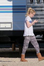 Emma Roberts - Scream Queens Set Photos - Santa Clara 12/2/ 2016