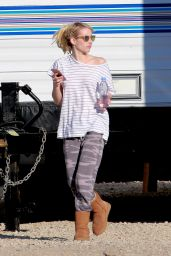 Emma Roberts - Scream Queens Set Photos - Santa Clara 12/2/ 2016