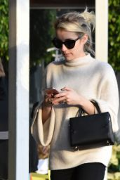 Emma Roberts Style - at Fred Segal in West Hollywood 12/13/ 2016
