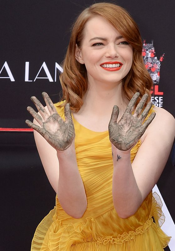 Emma Stone - 'La La Land' Hand and Footprint ceremony in LA 12/7/ 2016