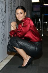 Emmanuelle Chriqui at AOL Build in New York City 12/8/ 2016