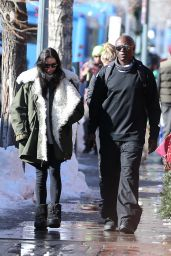 Erica Packer - Passionately Kisses Seal in Aspen, Colorado 12/23/ 2016
