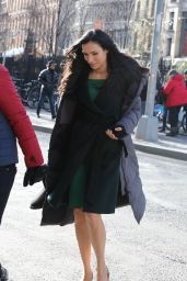 Famke Janssen - On Set of