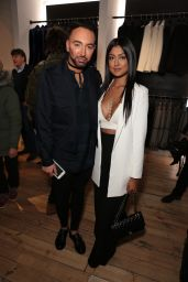 Farah Sattaur - Joshua Kane Flagship Store Launch Party in London 12/21/ 2016