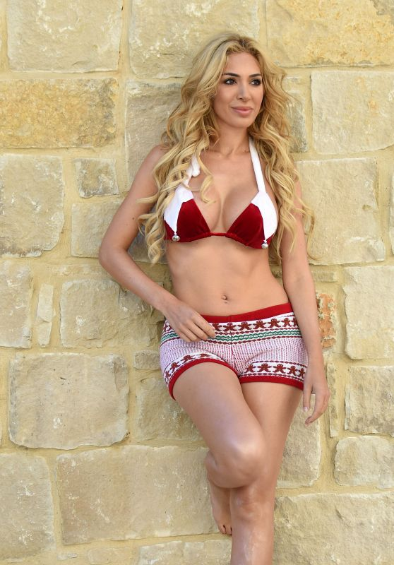 Farrah Abrahami in a Bikini- Christmas-Themed Photoshoot in Texas 12/2/ 2016