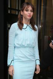 Felicity Jones at BBC Radio Two in London, UK 12/15/ 2016