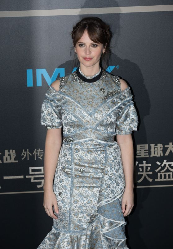 Felicity Jones - Rogue One: A Star Wars Story Premiere in Beijing 12/21/ 2016