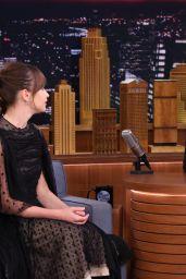 Felicity Jones - The Tonight Show Starring Jimmy Fallon in NYC, November 2016