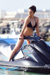 Frances Bishop in Black Bikini in Dubai 12/16/ 2016