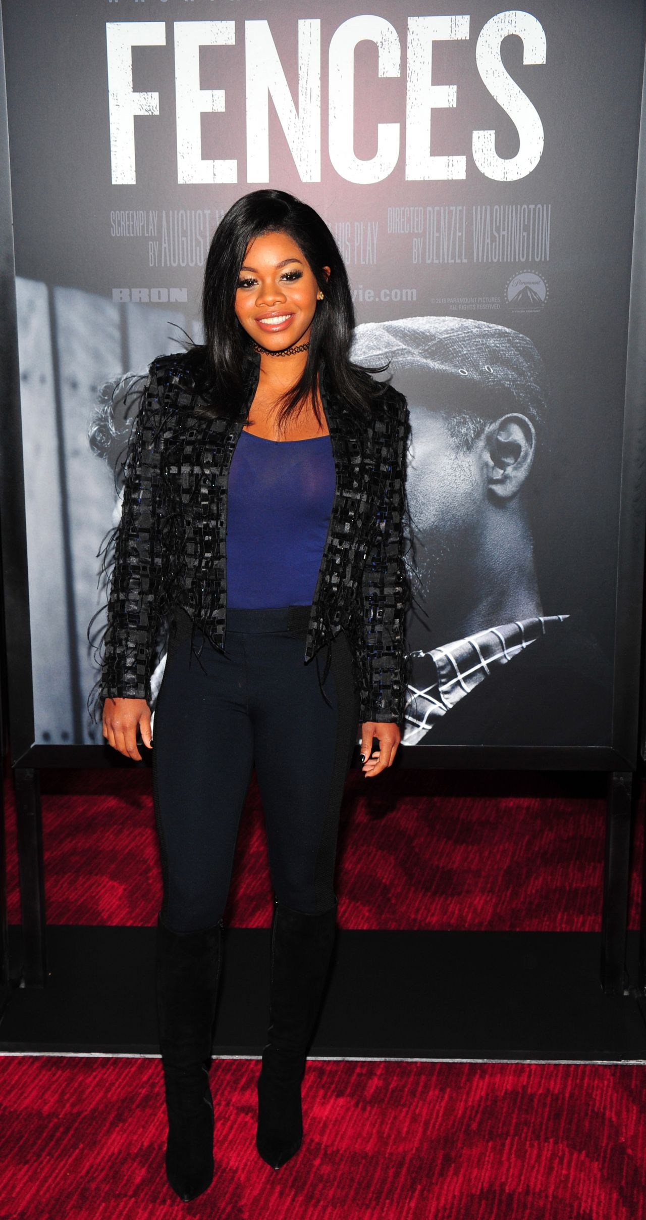 Gabrielle Gabby Douglas Fences Film Screening In Nyc