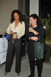 Gina Torres Night Out Style  - Catch LA in West Hollywood 12/28/ 2016