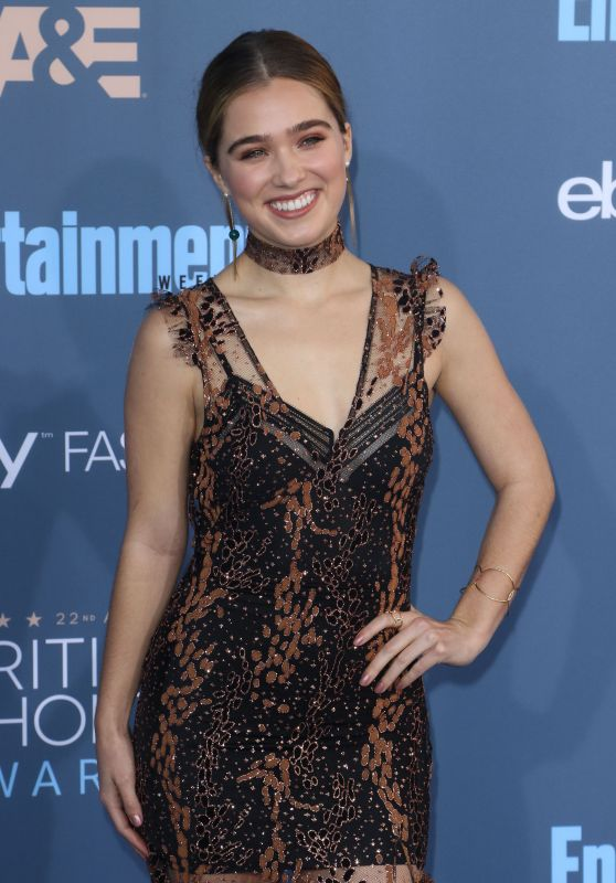 Haley Lu Richardson – 2016 Critics' Choice Awards in Santa Monica
