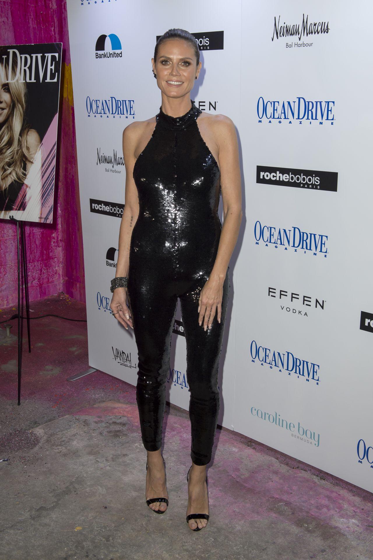 Heidi Klum Ocean Drive Magazine Cover Party In Miami 11