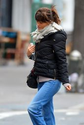 Helena Christensen - Bundles Up in New York City, December 2016