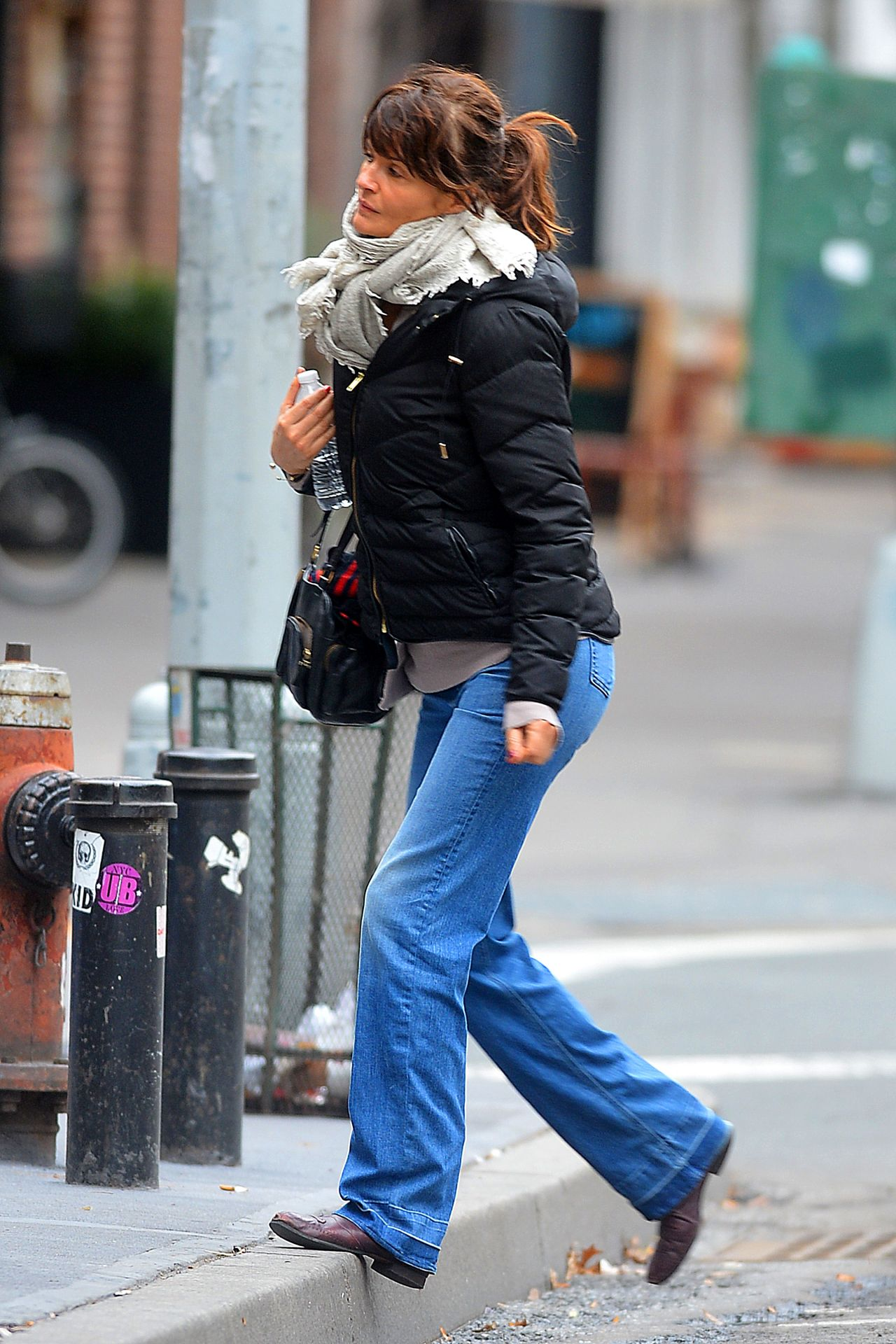 Helena Christensen Bundles Up In New York City December
