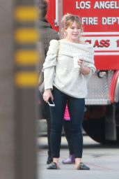 Hilary Duff at a Fire Department in Studio City 12/5/ 2016