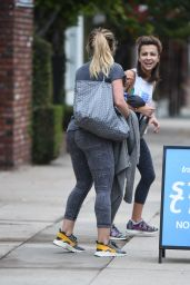 Hilary Duff - Chats With a Friend After Her Workout in LA 12/21/ 2016