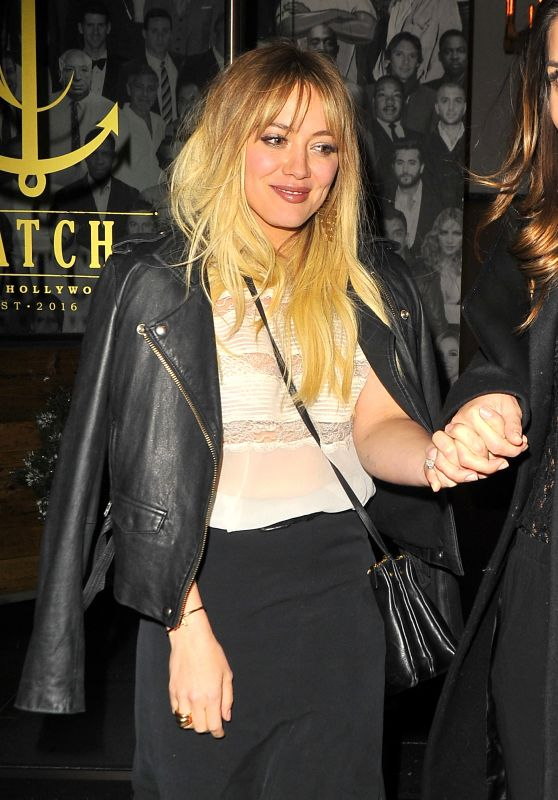 Hilary Duff - Enjoys a Night Out at Catch LA in West Hollywood 12/17/ 2016