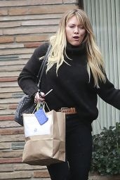 Hilary Duff - Shopping at a Framing Store in Studio City 12/22/ 2016