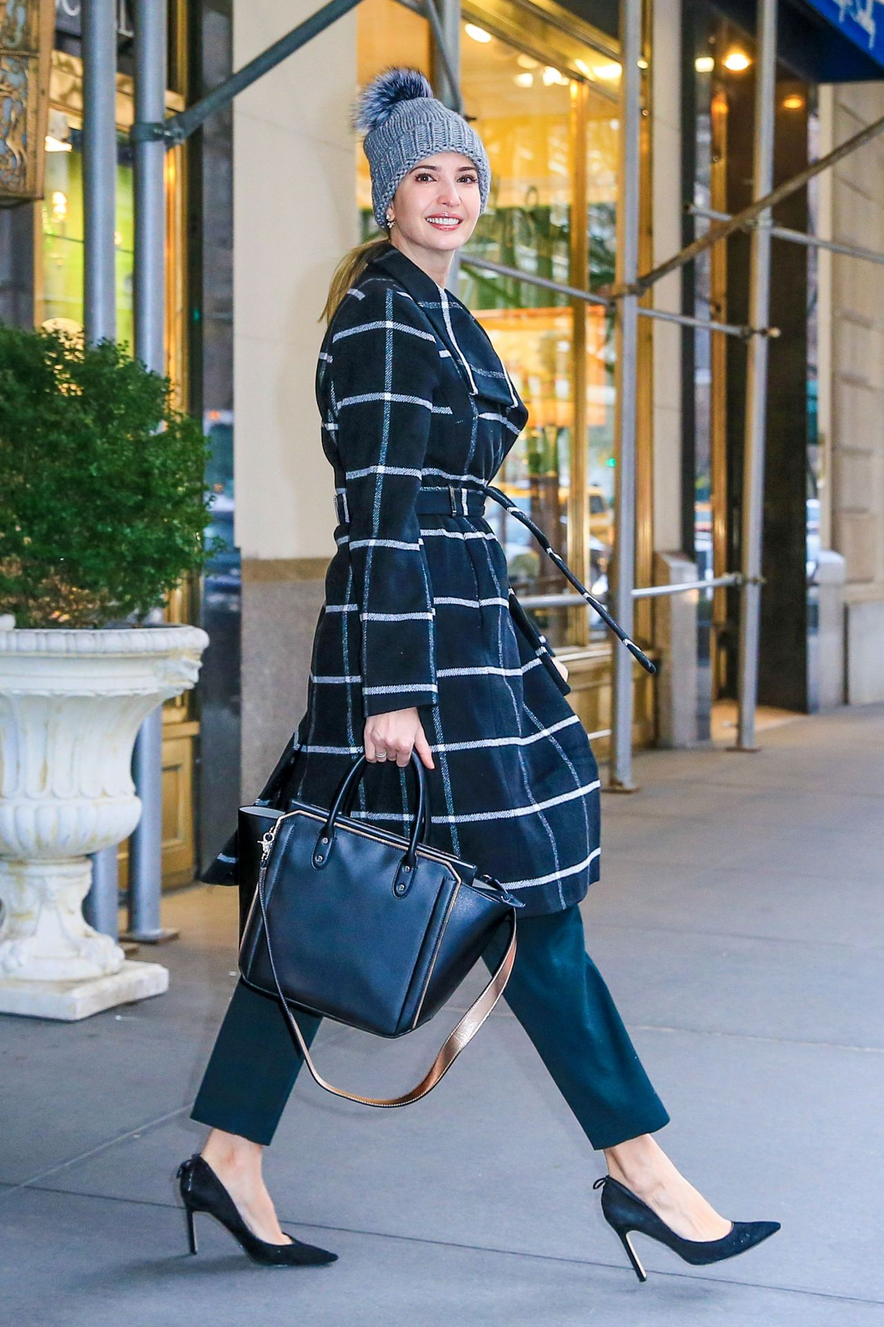Ivanka Trump all bundled up in NYC