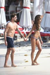 Izabel Goulart in a Bikini at a Beach in St. Barts 12/25/ 2016