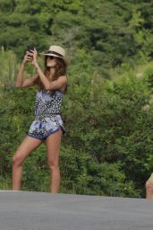 Izabel Goulart On Her Holiday in St. Barts, December 2016
