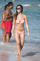 Janette Manrara in Pink Bikini On Miami Beach 12/28/ 2016
