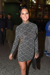 Jemma Lucy - Arrives to Watch the Boxing in Manchester 12/12/ 2016