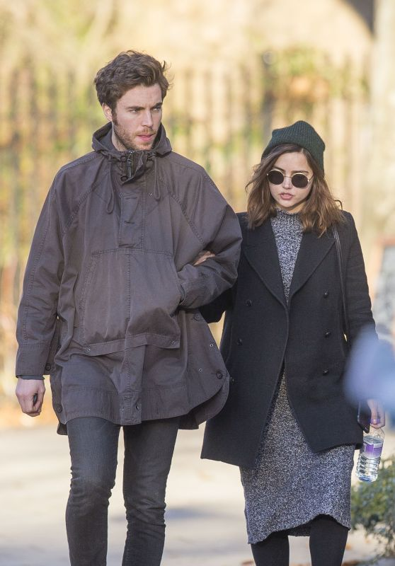 Jenna Coleman and Tom Hughes - Out in London, December 2016