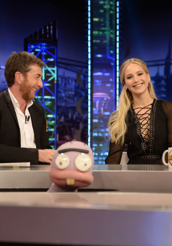 Jennifer Lawrence Appeared on EL Homiguero TV Show Hosted by Pablo Motos in Madrid 12/15/ 2016