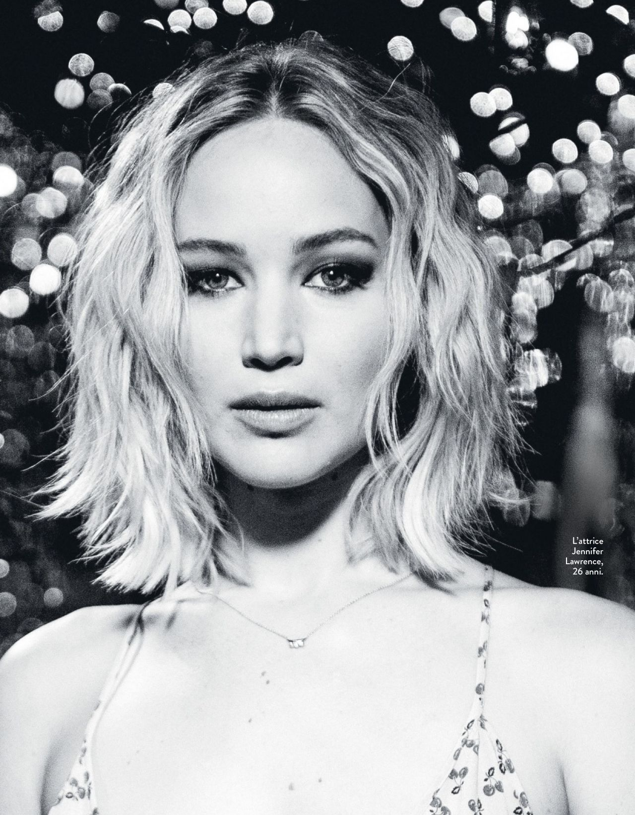 Jennifer Lawrence B&W Photo