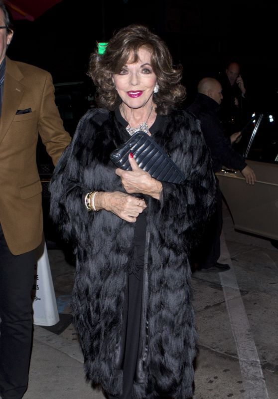 Joan Collins - Arriving for Dinner at