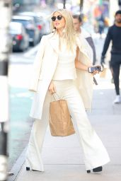 Julianne Hough in All White Outfit - Shopping in SoHo, NYC 12/14/ 2016