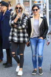Julianne Hough Street Style - Shopping With a Friend at The Grove in Hollywood, December 2016