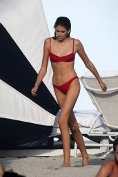 Kaia Gerber in Red Bikni - Miami, FL 12/25/ 2016