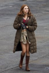 Karen Gillan - On set of