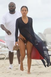 Karrueche Tran - Spends The Afternoon at The Beach in Miami 12/2/ 2016