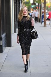 Kate Bosworth in Long-Sleeve Midi Dress - Out in New Orleans 12/1/ 2016
