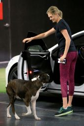 Kate Upton - Heads to The Gym With Her Dog Harley in Beverly Hills, CA 12/1/ 2016