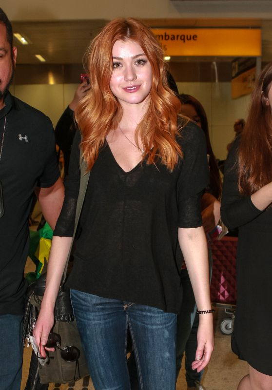 Katherine McNamara at the Sao Paulo Airport 12/3/ 2016