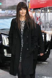 Katie Holmes at Good Morning America in NYC 12/6/ 2016