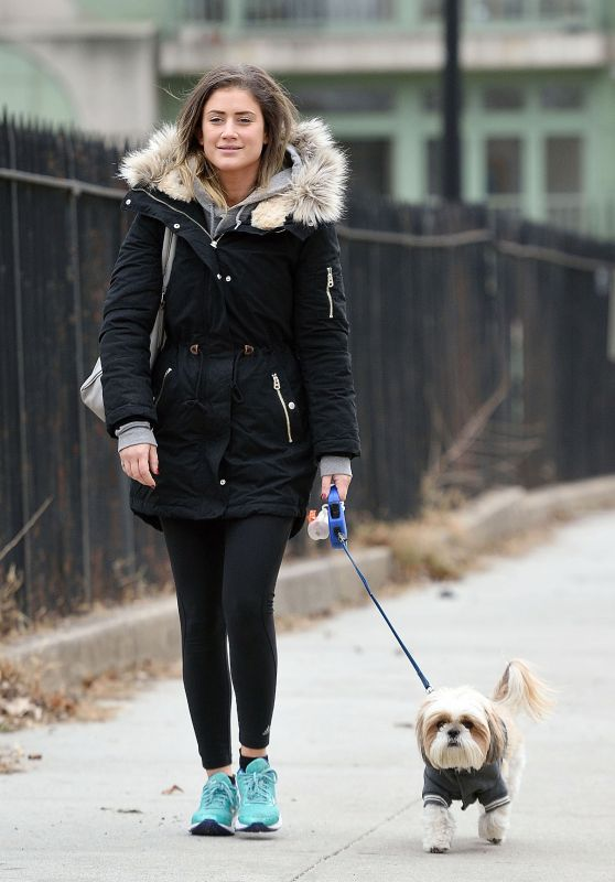 Katie Waissel - Walking Her Dog in NYC 12/12/ 2016